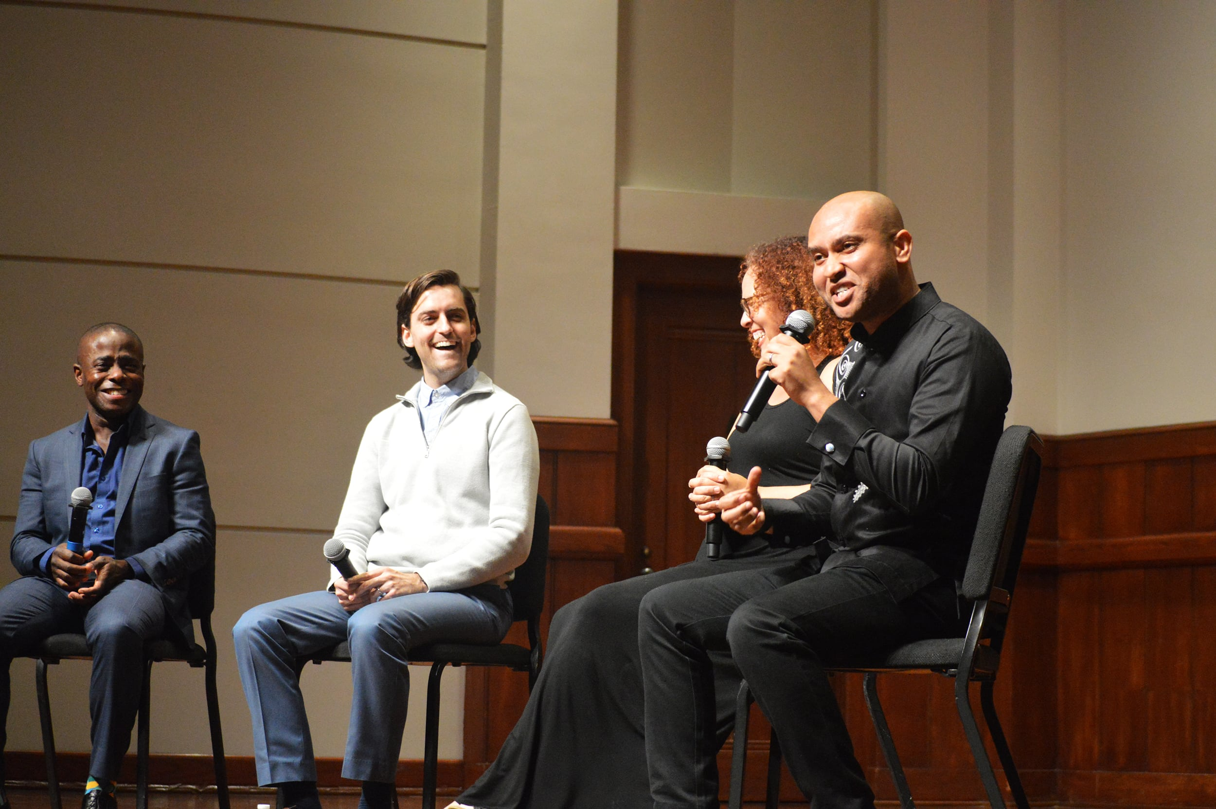 A panel discussion followed the concert and was moderated by Derrick Spiva Jr., Composer, LACO's artist educator, included Anthony McGill, Giovanna Clayton and composer Juan Pablo Contreras at Alfred Newman Recital Hall.