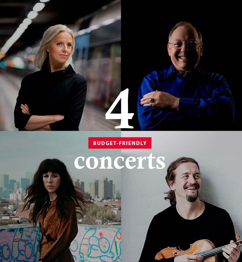 Four budget-friendly concerts